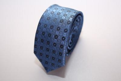 Caravat màu xanh dương họa tiết tròn ẩn C20