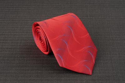 Caravat màu đỏ vân xanh C31