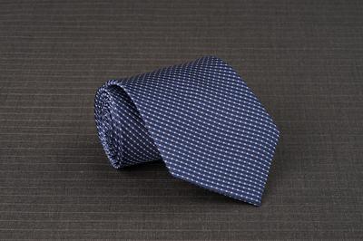 Caravat màu xanh vân trắng C36
