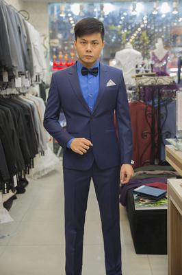 Suit Xanh Navy Trơn Ôm Dáng - MC Lâm Hiếu Nghĩa