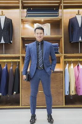 Bộ Suit Xanh Gân - MC Đào Duy