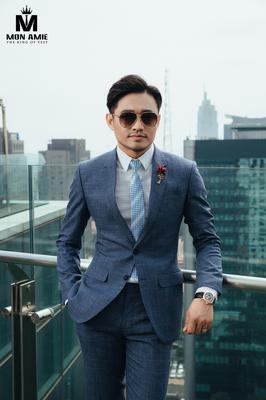 Bộ Suit Xanh Công Sở Lịch Lãm - Ca Sĩ Quý Bình