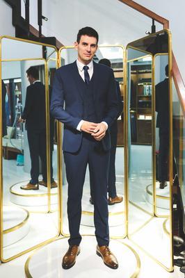 Bộ Suit Doanh Nhân Xanh Đen F74.067