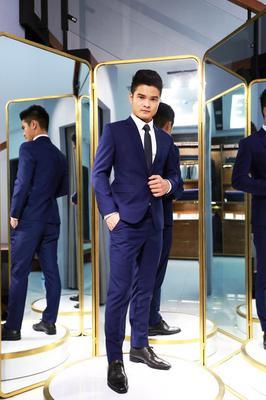 Bộ Suit Chú rể Xanh Navy G84.006