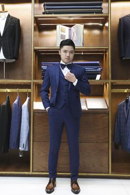 Bộ Suit Chú rể Xanh navy C52.031