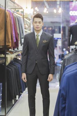 Suit Chú rể Caro nâu lịch lãm 635083